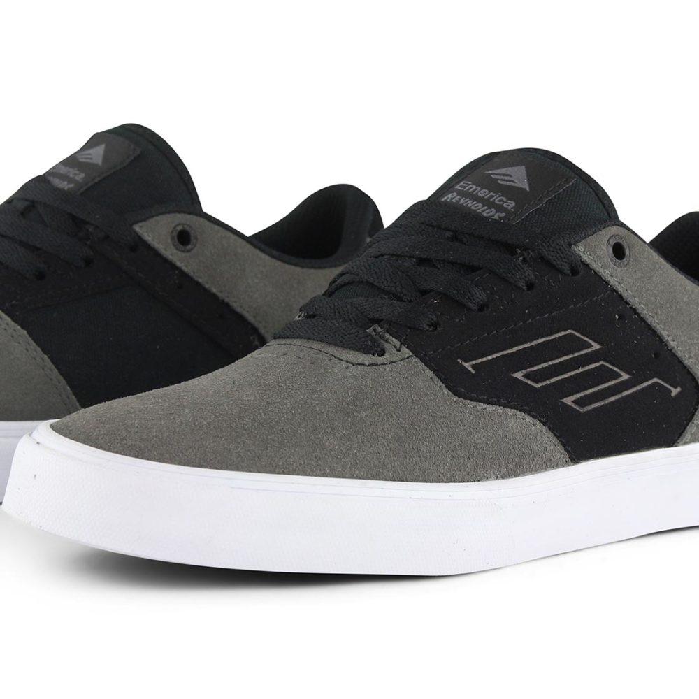 Emerica Reynolds Low Vulc Shoes - Grey / Black / White