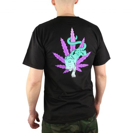 HUF Backlight Panther Tee Black