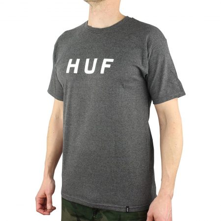 HUF OG Logo S/S T-Shirt - Charcoal Heather