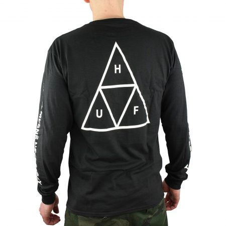 HUF Triple Triangle Tee Black