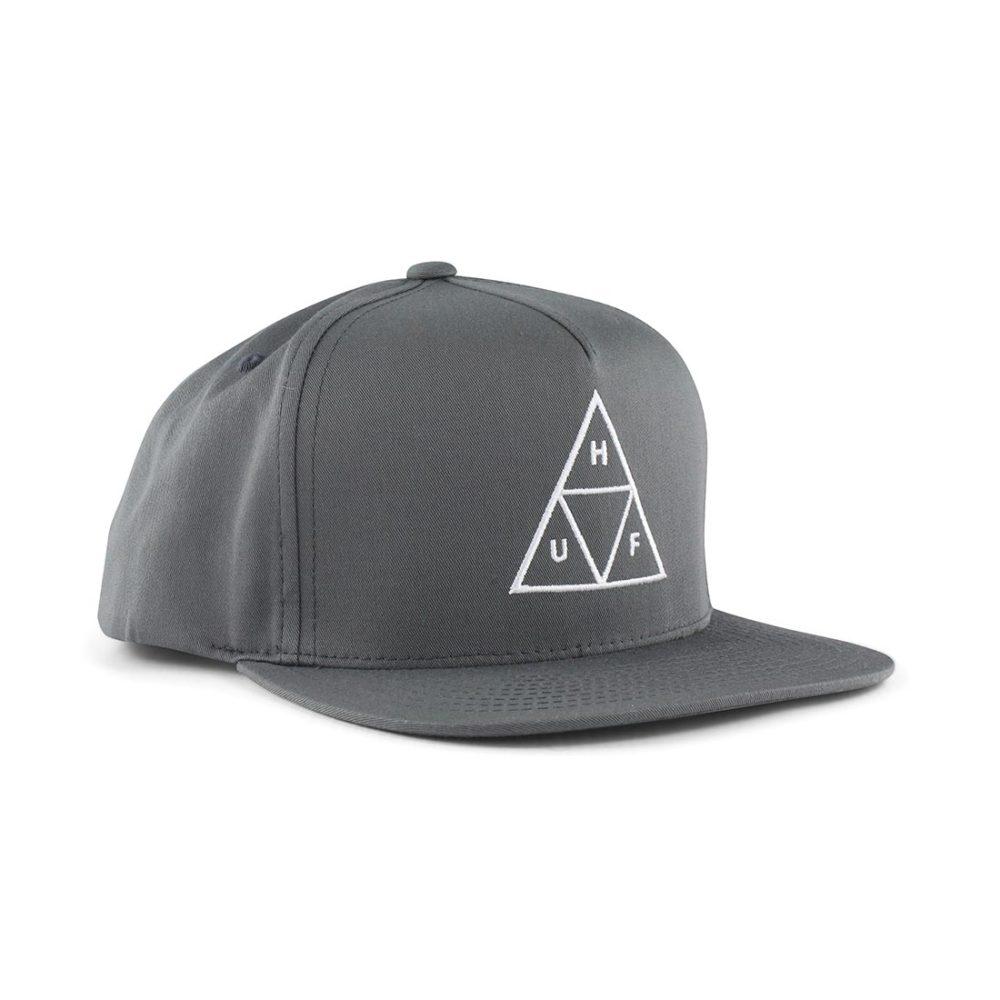 HUF-Triple-Triangle-Snapback-Hat-Charcoal-01