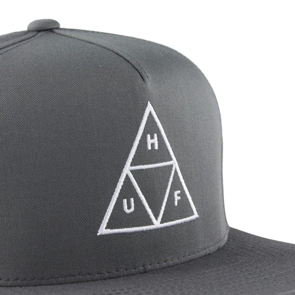 HUF-Triple-Triangle-Snapback-Hat-Charcoal-02