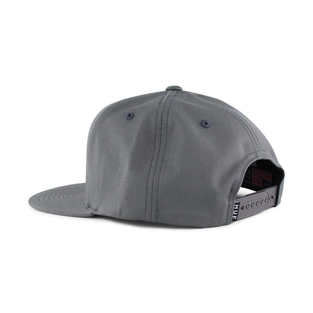 HUF-Triple-Triangle-Snapback-Hat-Charcoal-03