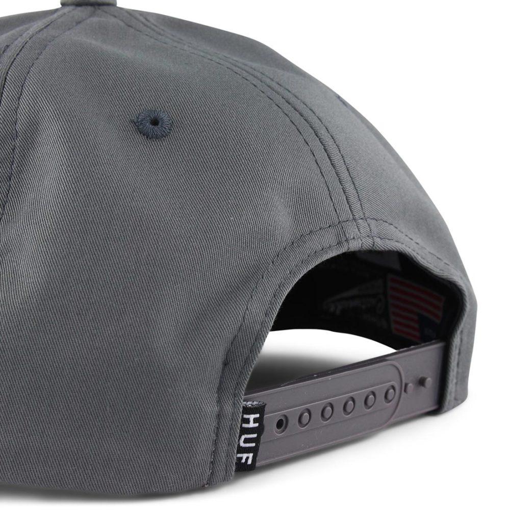 HUF-Triple-Triangle-Snapback-Hat-Charcoal-04