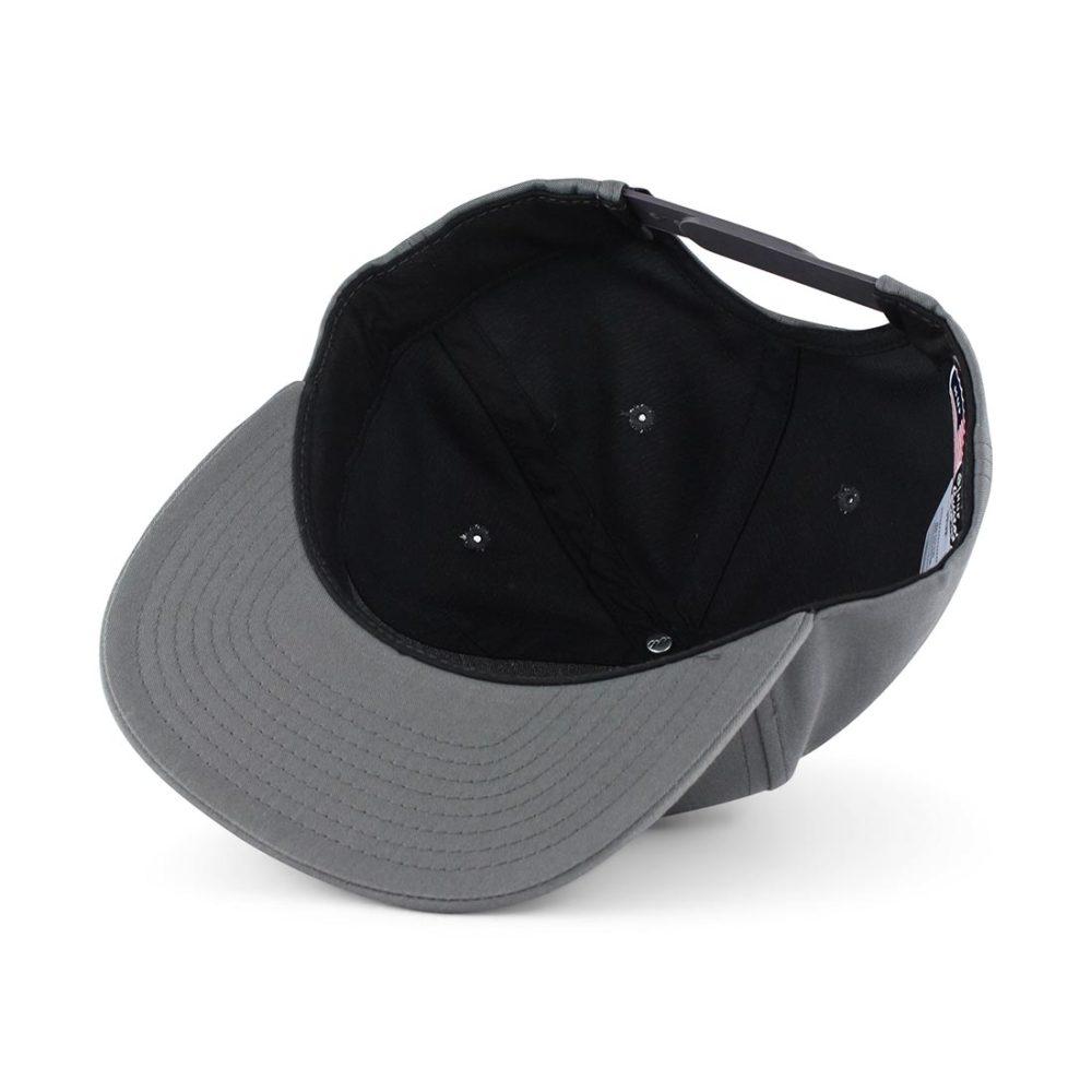HUF-Triple-Triangle-Snapback-Hat-Charcoal-05