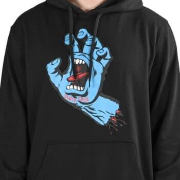 Santa Cruz Screaming Hand Pullover Hoodie - Black