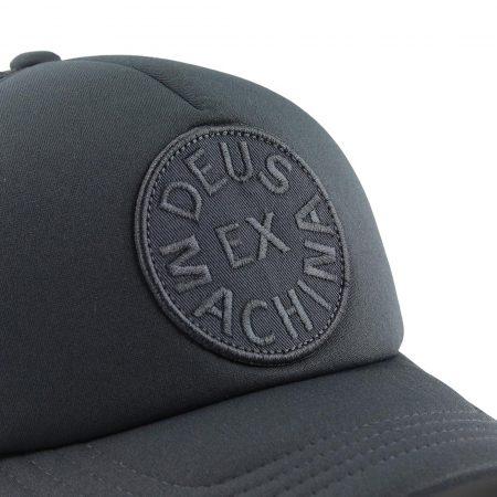 Deus Ex Machina Circle Logo Mesh Back Trucker Cap 77002 - Black