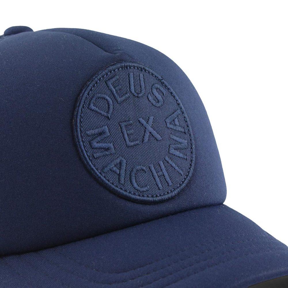 Deus Circle Logo Trucker Navy