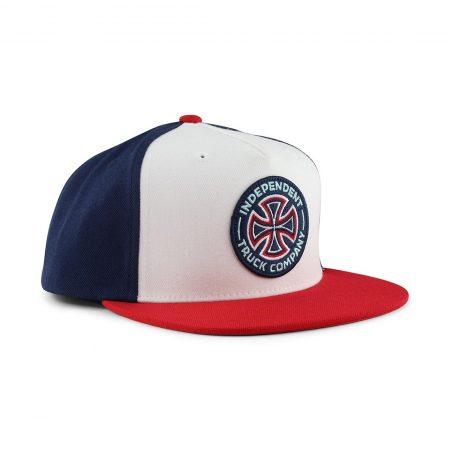 Independent Combi Snap Back Cap Red Navy