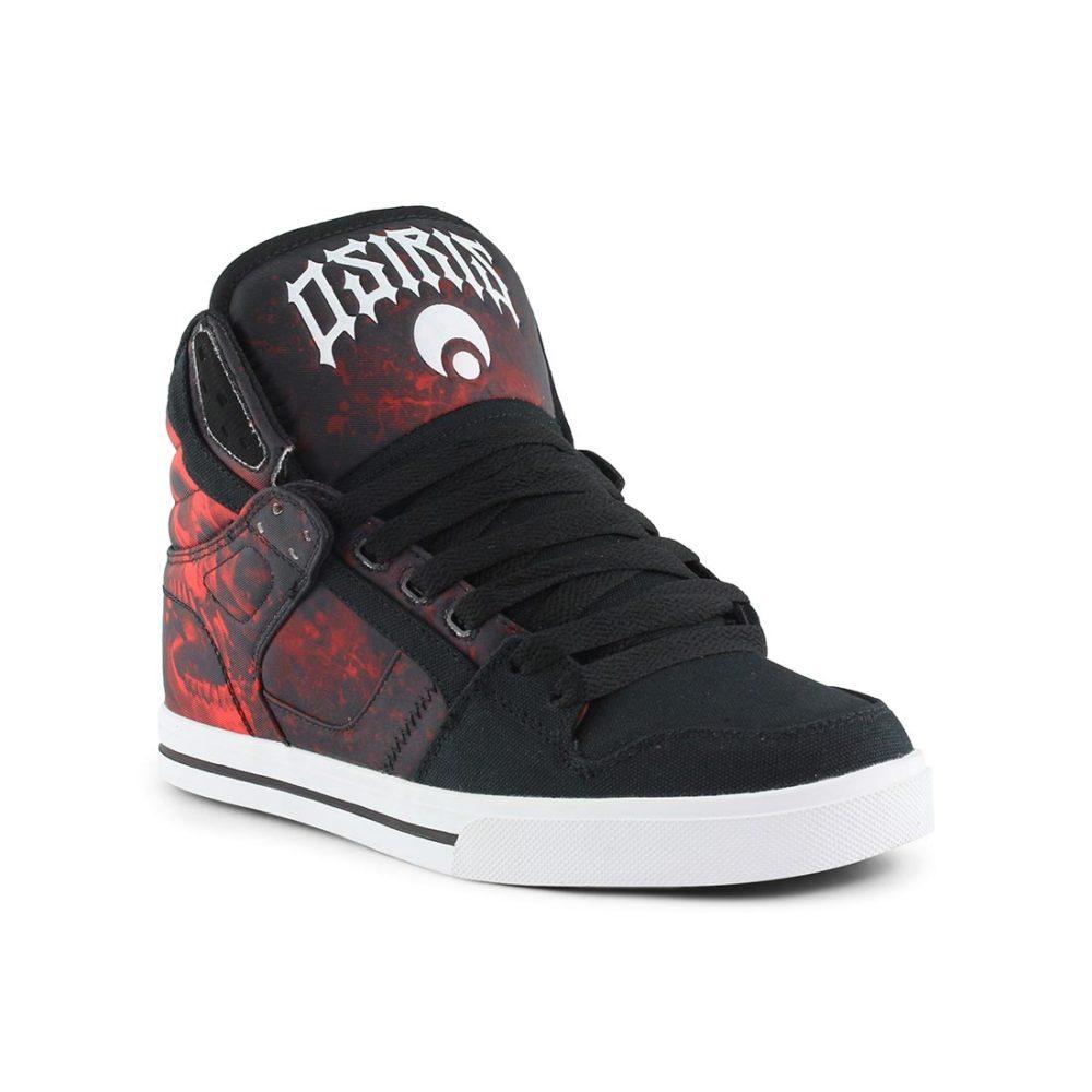 51e177fb0f Osiris Clone High Top Shoes - Huit   Battle   Red