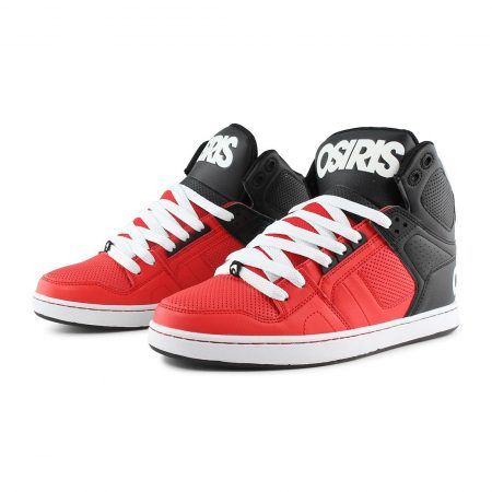 Osiris NYC 83 CLK Shoes Red Black White