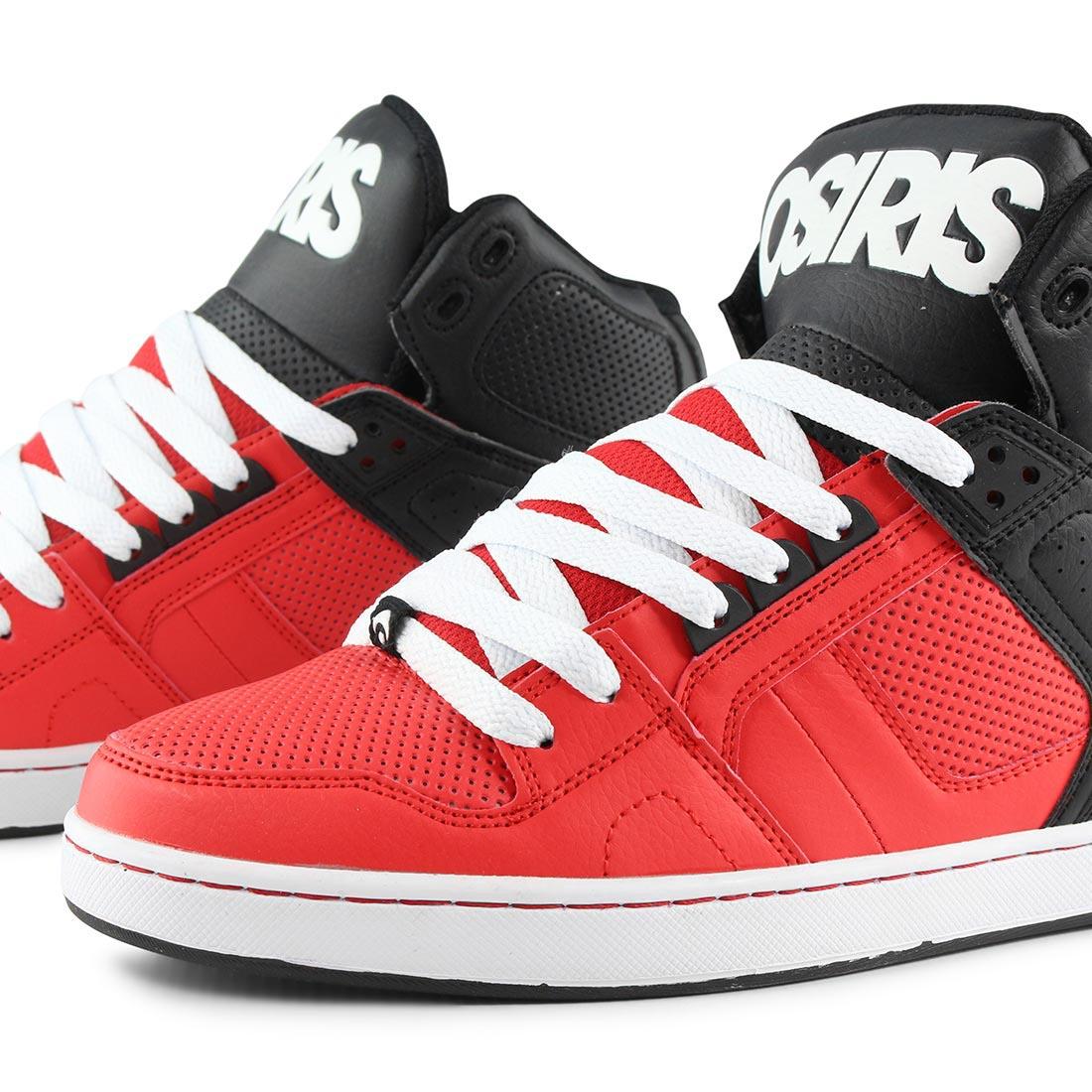 Osiris NYC 83 CLK High Top Shoes - Red