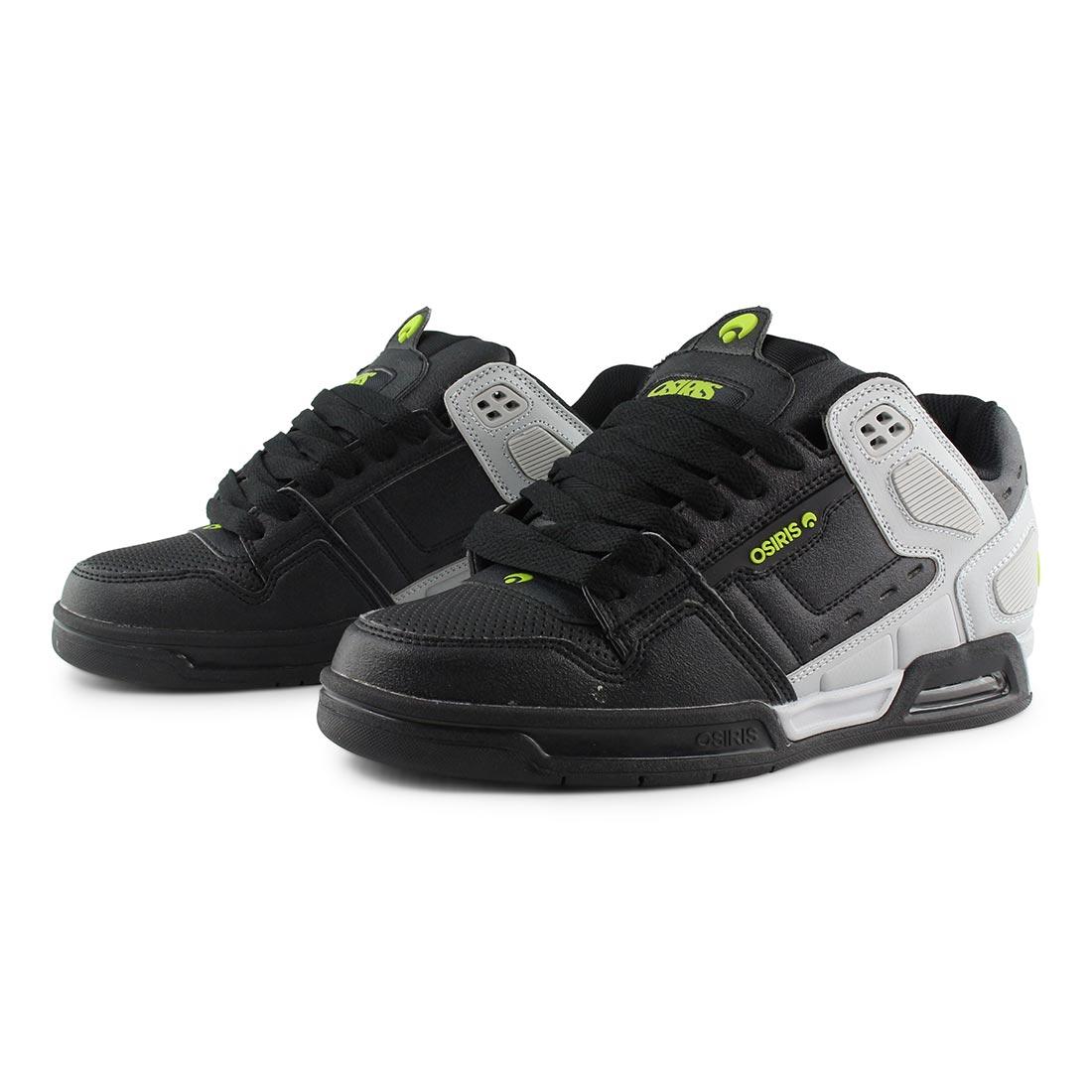 Osiris Peril Shoes - Lt. Grey / Black / Lime