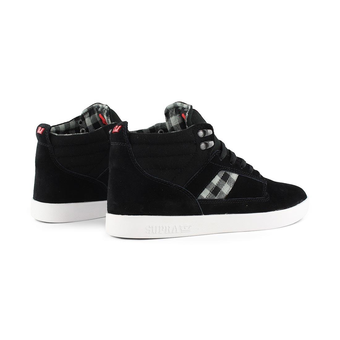 255c6783097a ... Supra-Bandit-Shoes-Black-Plaid-White- ...