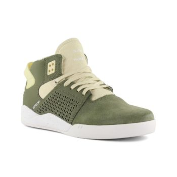 Supra Skytop 3 Shoes Olive White