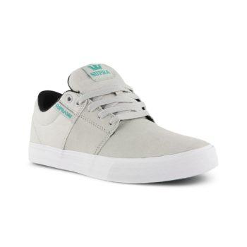 Supra Stacks Vulc II Shoes - Light Grey / White