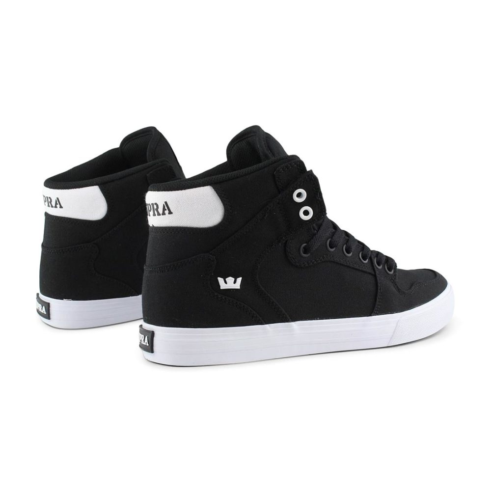 Supra Vaider High Top Shoes - Black / White / Black