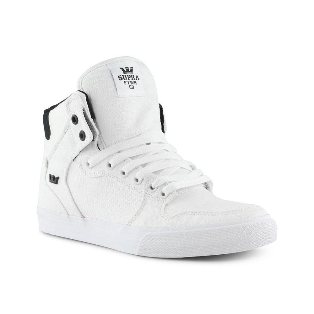 d705d2131c1e Supra Vaider High Top Shoes - White   White Canvas