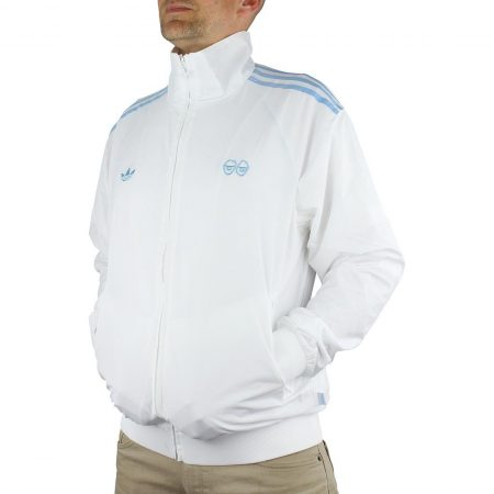 Adidas x Krooked Track Jacket - White / Clear Blue
