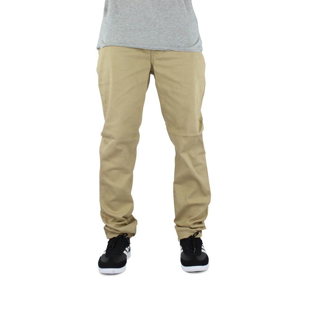 Element E02 Slim Straight Jeans - Desert Khaki