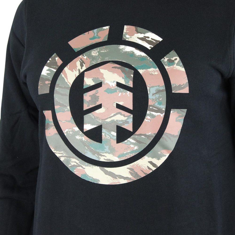 Element Logo Fill Crew Black