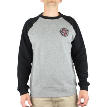 Independent TC Raglan Crew Sweater - Black / Dark Heather