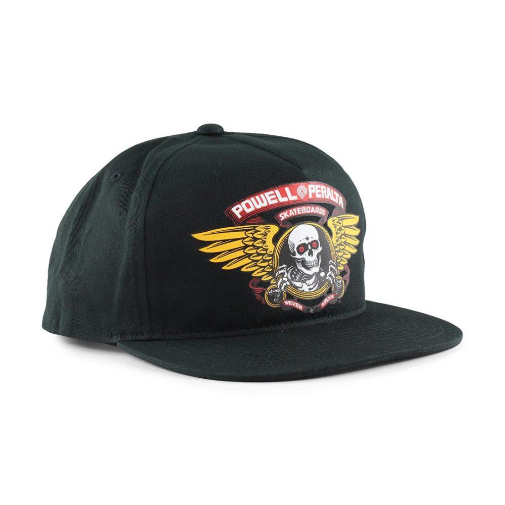 Powell Peralta Winged Ripper Snapback Cap - Black