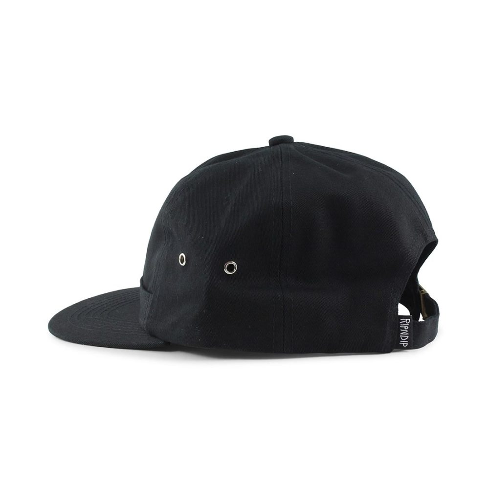 RIPNDIP Lord Nermal 6 Panel Pocket Hat - Black