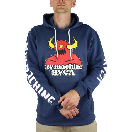 RVCA x Toy Machine Pullover Hoodie – Blue
