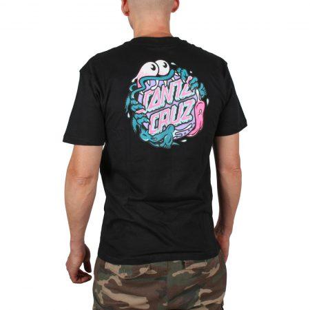 Santa Cruz Slasher Dot T-Shirt Black