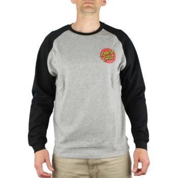 Santa Cruz Small Dot Crew Sweater - Black / Dark Heather