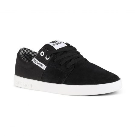 Supra Stacks II Shoes - Black / White / White