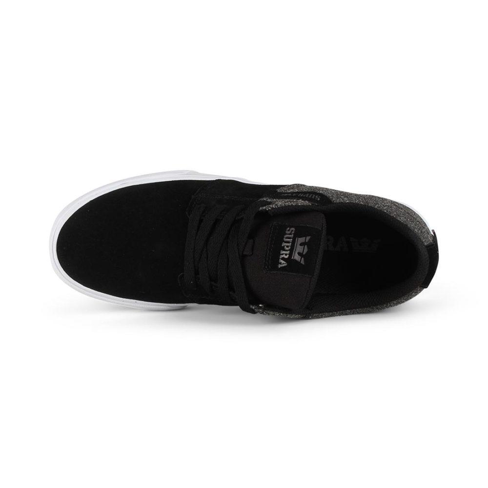 Supra Stacks Vulc II Shoes - Black / White / Black