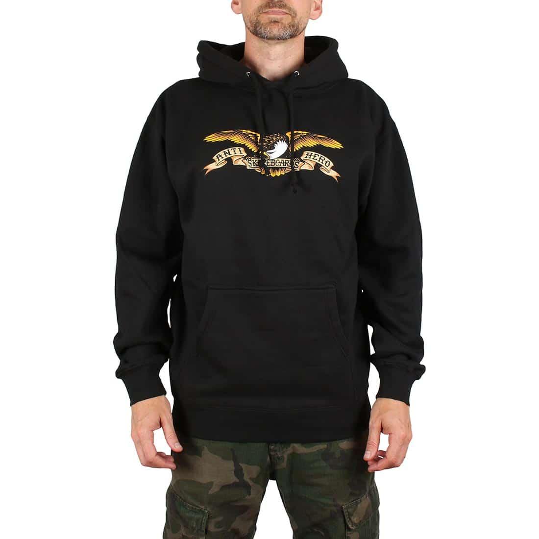 Anti Hero Eagle Pullover Hoodie - Black