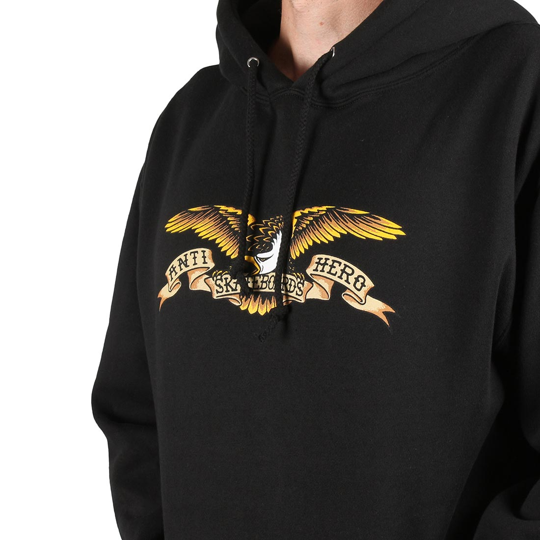Anti Hero Eagle Pullover Hoodie - Black