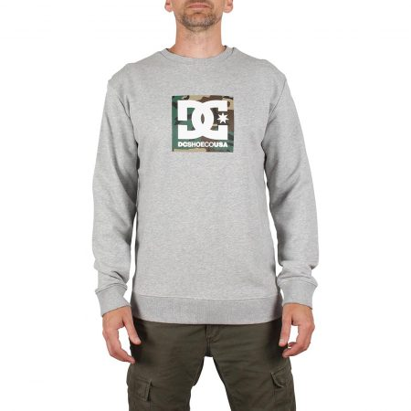 DC Shoes Camo Boxing Crew Sweater - Grey Heather