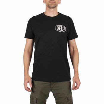 Deus Ex Machina Milano Address (Shield) T-Shirt - Black