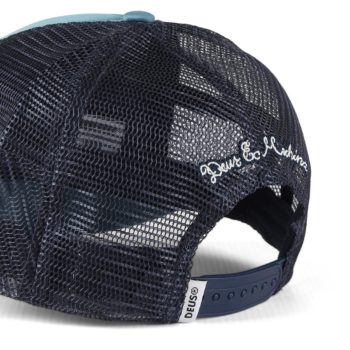 Deus Ex Machina Moretown Mesh Back Trucker Cap - Dark Blue