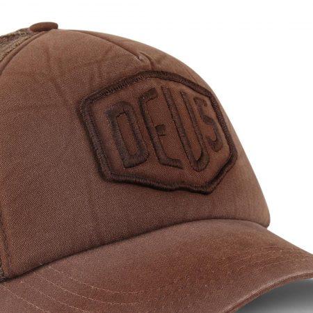 Deus Ex Machina Shield Mesh Back Trucker Cap - French Roast