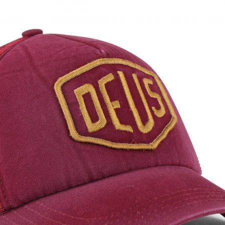 Deus Ex Machina Shield Mesh Back Trucker Cap - Rumba Red