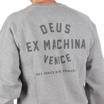 Deus Ex Machina Venice Address Crew Sweater - Grey Marle