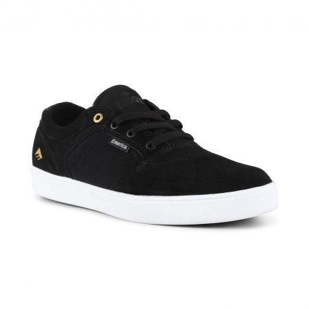 Emerica Figgy Dose Shoes - Black / White / Gold