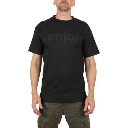 Enjoi Skateboards Helvetica Logo S/S T-Shirt - Black / Black