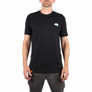 Enjoi Skateboards Small Panda Logo S/S T-Shirt - Black / Blue