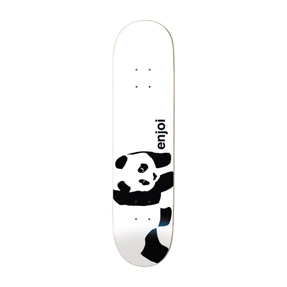 """Enjoi Skateboards Whitey Panda Logo Wide R7 8"""" Deck - White"""