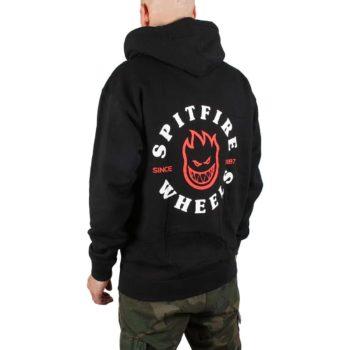 Spitfire Bighead Classic Zip Hoodie - Black / Red / White