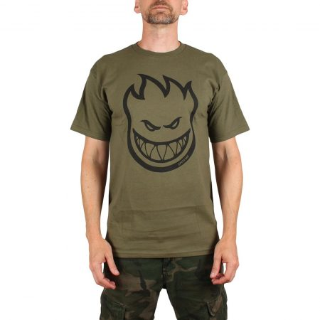 Spitfire Bighead S/S T-Shirt - Military Green / Black