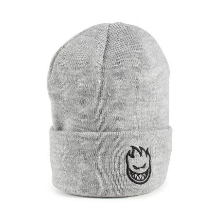 Spitfire Bighead Standard Cuff Beanie Hat - Heather Grey / Black