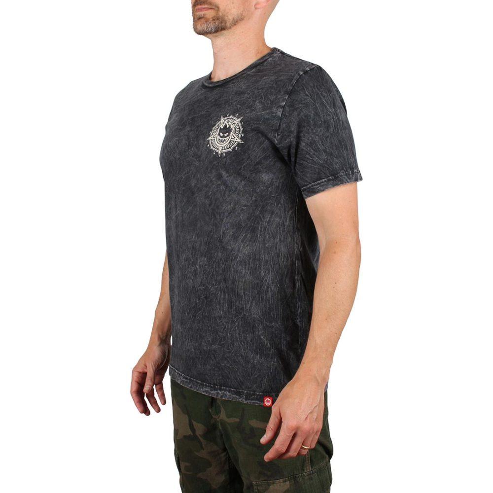 Spitfire Pentaburn S/S T-Shirt - Black Mineral Wash / Bleach Print