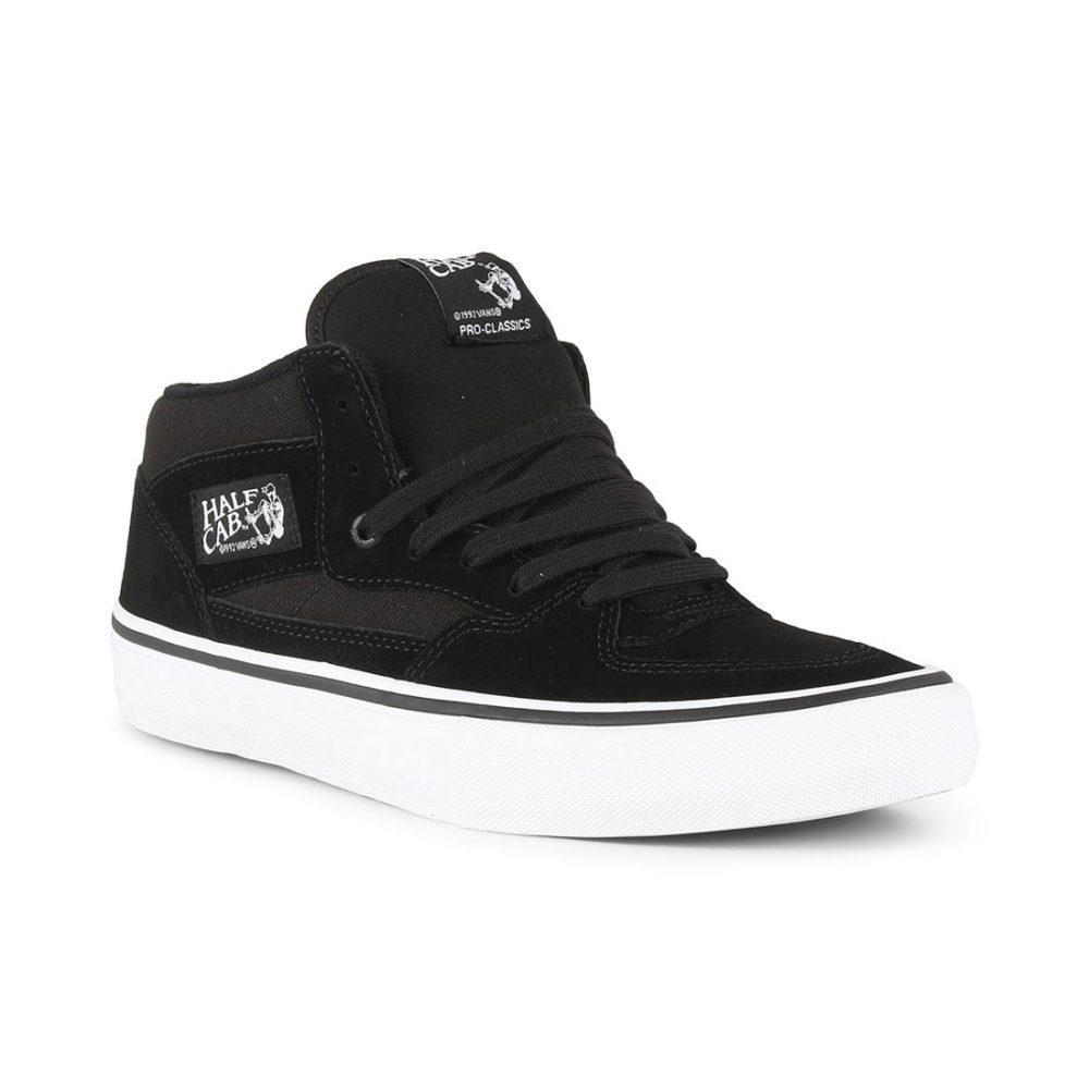 33e3429ea31 Vans Half Cab Pro Shoes - Black   Black   White